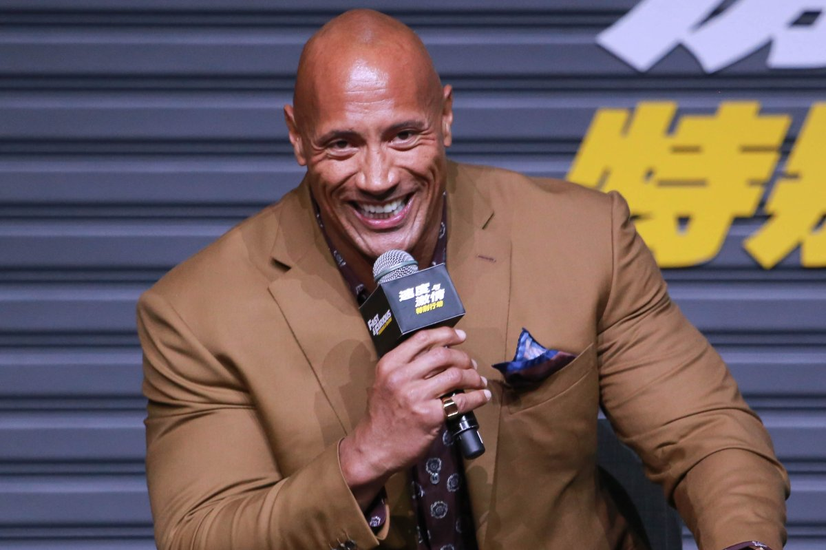 Actor Dwayne Johnson attends the 'Fast & Furious: Hobbs & Shaw' press conference on Aug. 5, 2019 in Beijing, China.