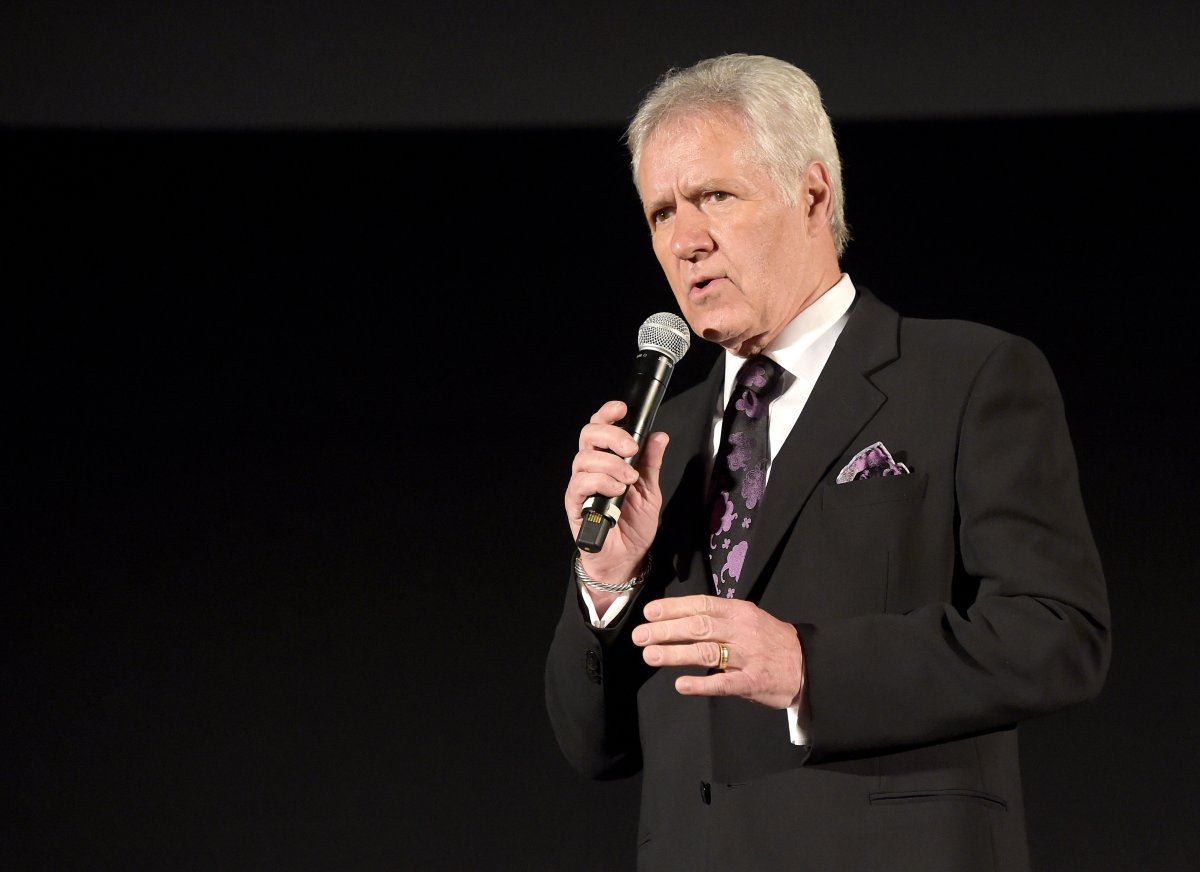 TV personality Alex Trebek speaks before the screening of 'Apollo 13' during day two of the 2015 TCM Classic Film Festival on March 27, 2015 in Los Angeles, Calif.