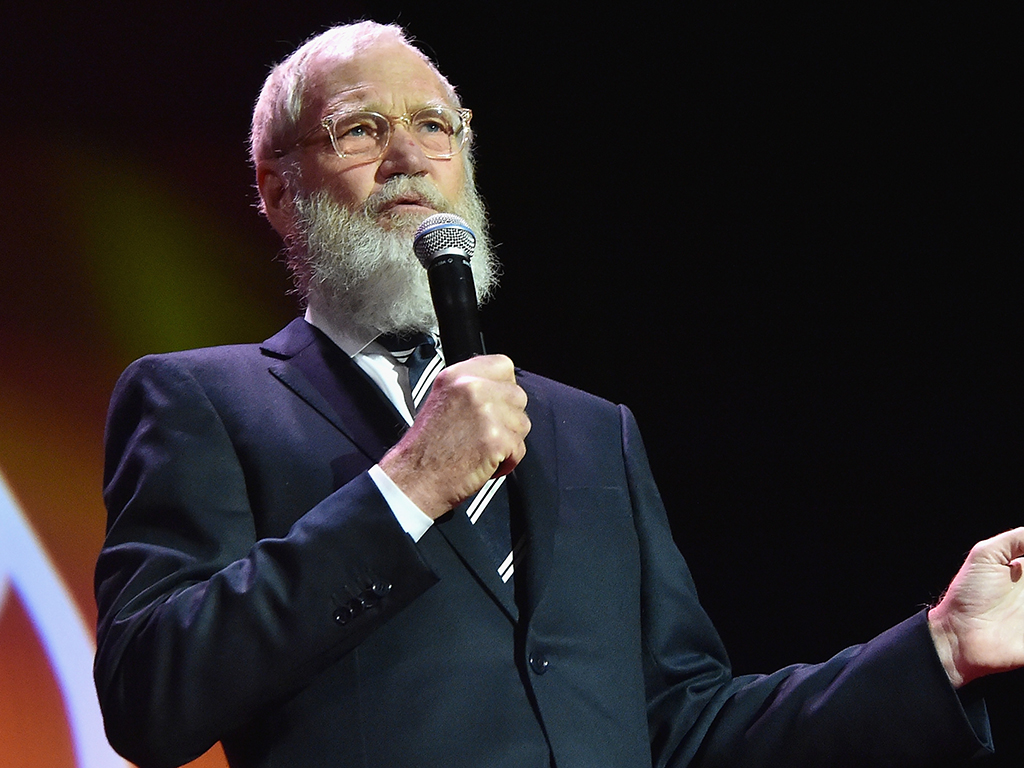 David Letterman speaks onstage during the Michael J. Fox Foundation'd 'A Funny Thing Happened On The Way To Cure Parkinson's Gala,' at The Waldorf=Astoria on Nov. 14, 2015 in New York City.