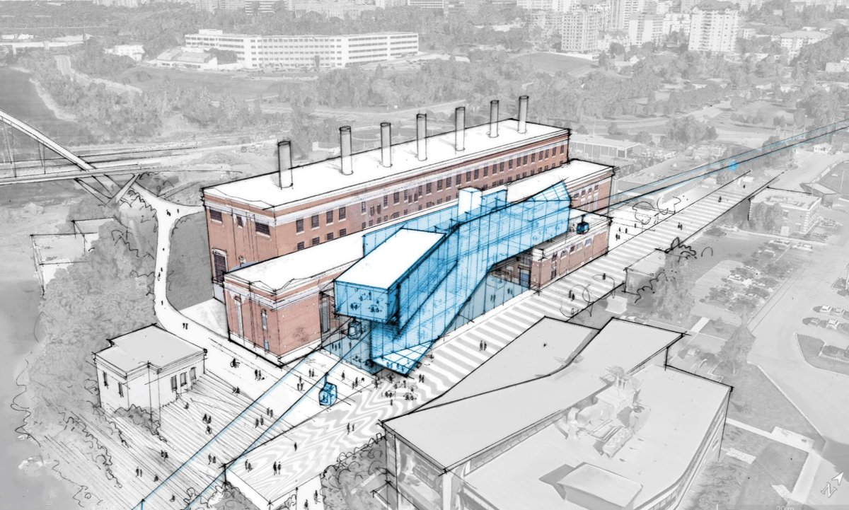 Prairie Sky Gondola Inc. has revealed its vision for building adjacent to West Rossdale power plant.