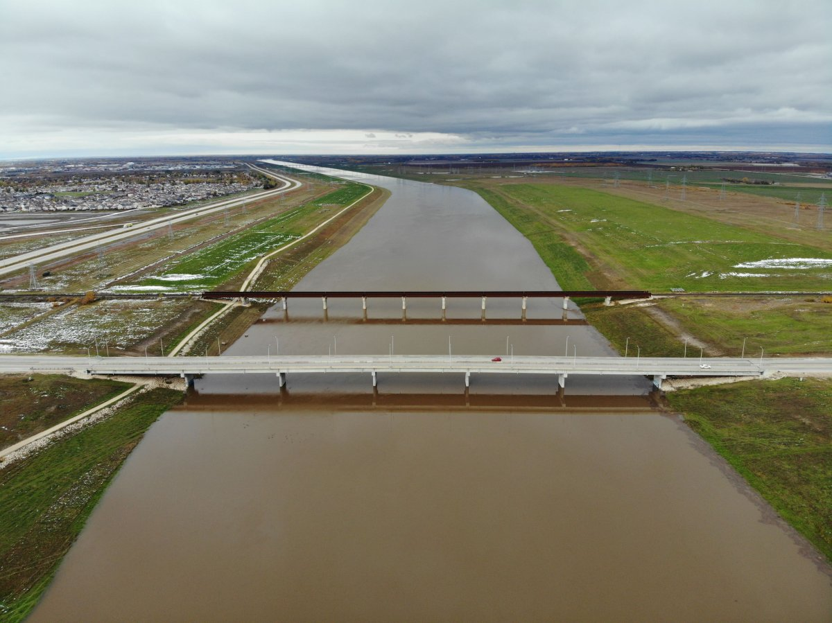 The Red River Floodway on Oct. 8, 2019.