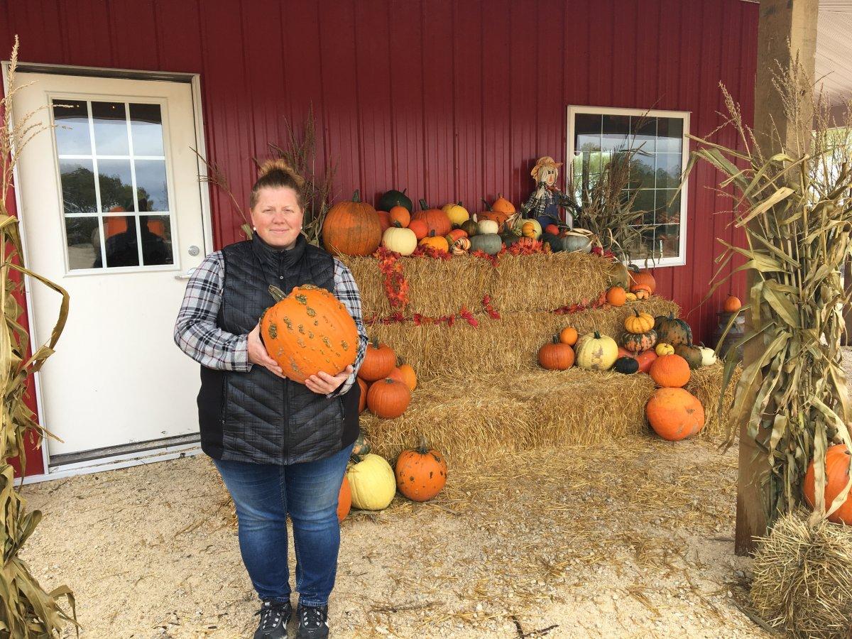 Melody Schwabe of Schwabe Pumpkins.
