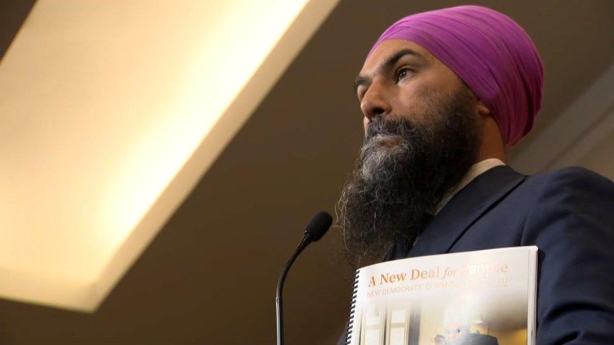 An image of NDP Leader Jagmeet Singh taken on Oct. 11, 2019.