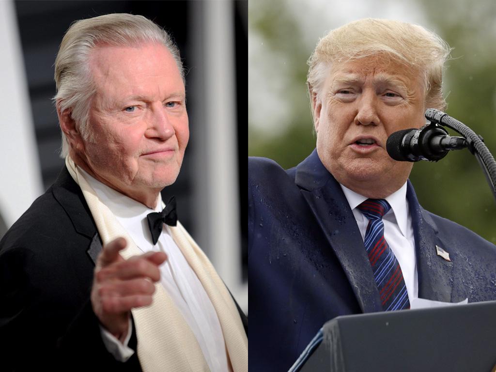 (L-R) Jon Voight and Donald Trump.