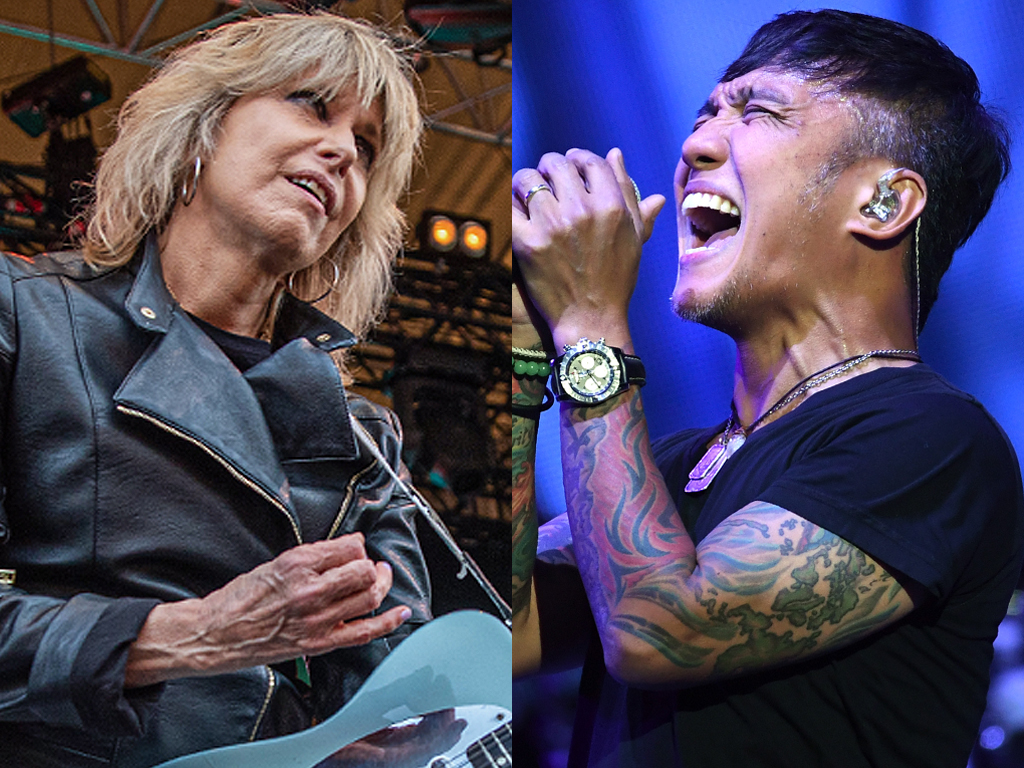 (L-R) Chrissie Hynde of The Pretenders and Arnel Pineda of Journey.