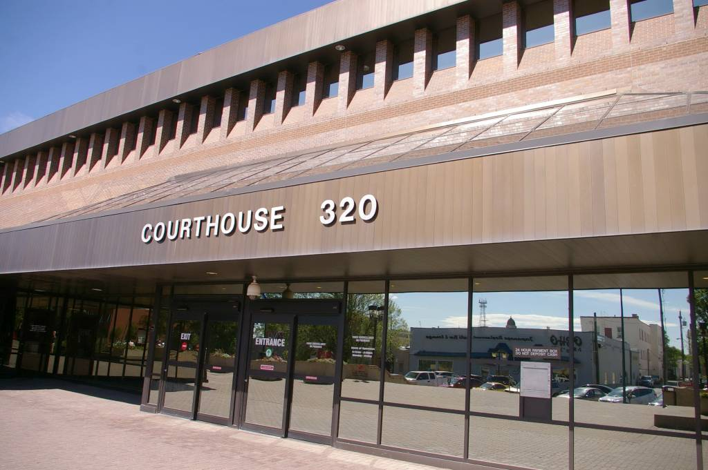 The courthouse in Lethbridge, Alta.