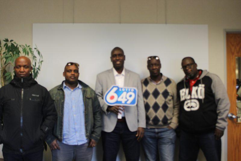 Adonis Ntwari, Emmanuel Hakizimana, Ramon Sindambiwe, Aime Nduwingoma and Marius Kanibi, all of Calgary, won $3 million on the Aug. 31 Lotto 6-49 draw.
