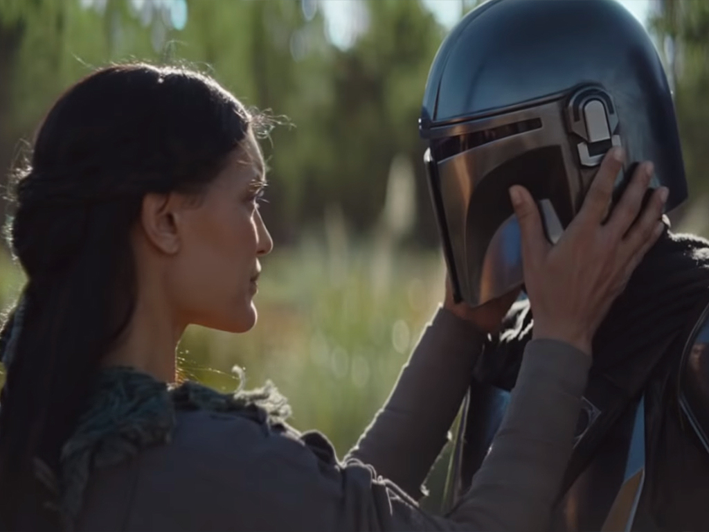 (L-R) Gina Carano as Cara Dune, and Pedro Pascal as The Mandalorian in the Jon-Favreau Disney+ original Star Wars series, 'The Mandalorian,' which is set to premiere on Nov. 12, 2019.
