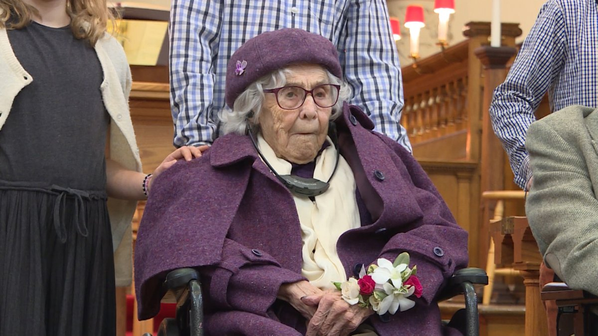 Long-time Kingston resident Margaret Cruikshank had attended St. George's Cathedral for 105 years of her life.