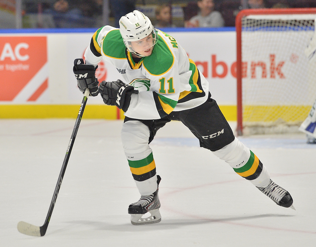 Connor McMichael of the London Knights.