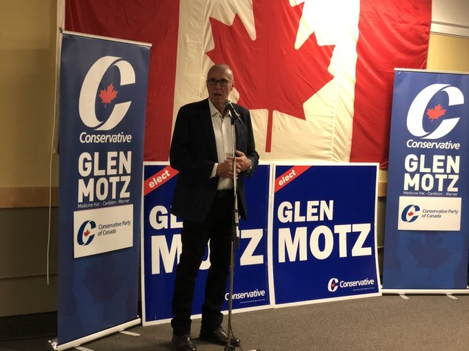 Medicine Hat-Cardston-Warner Conservative incumbent delivers his acceptance speech Monday.