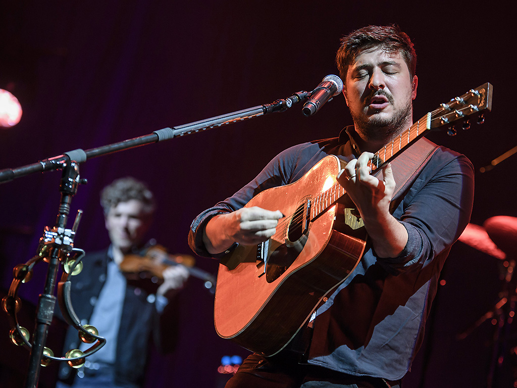 Marcus Mumford of Mumford and Sons performs at the Lollapalooza Festival in Hoppegarten near Berlin, Germany, on September 9, 2017.