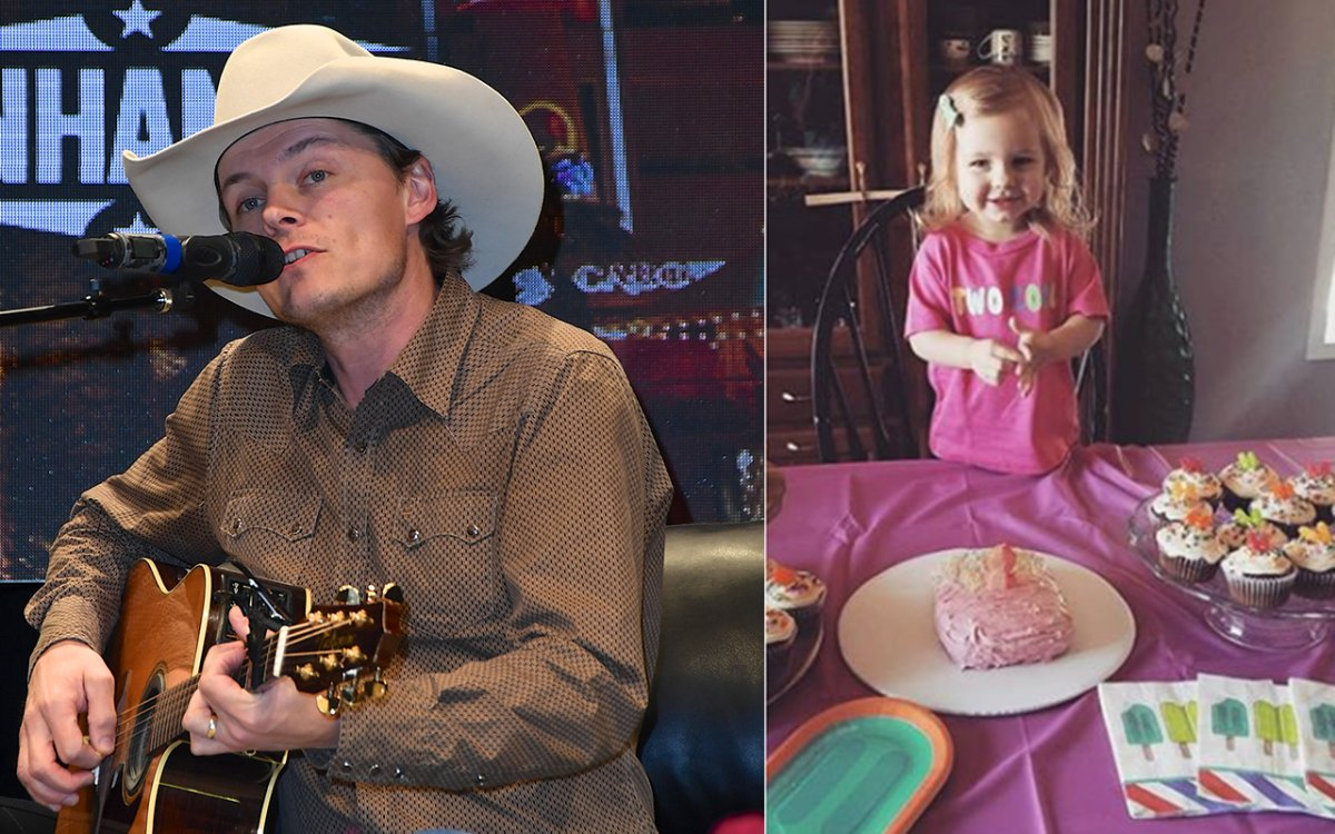 Country singer Ned LeDoux, left, and his two-year-old daughter Haven, right.