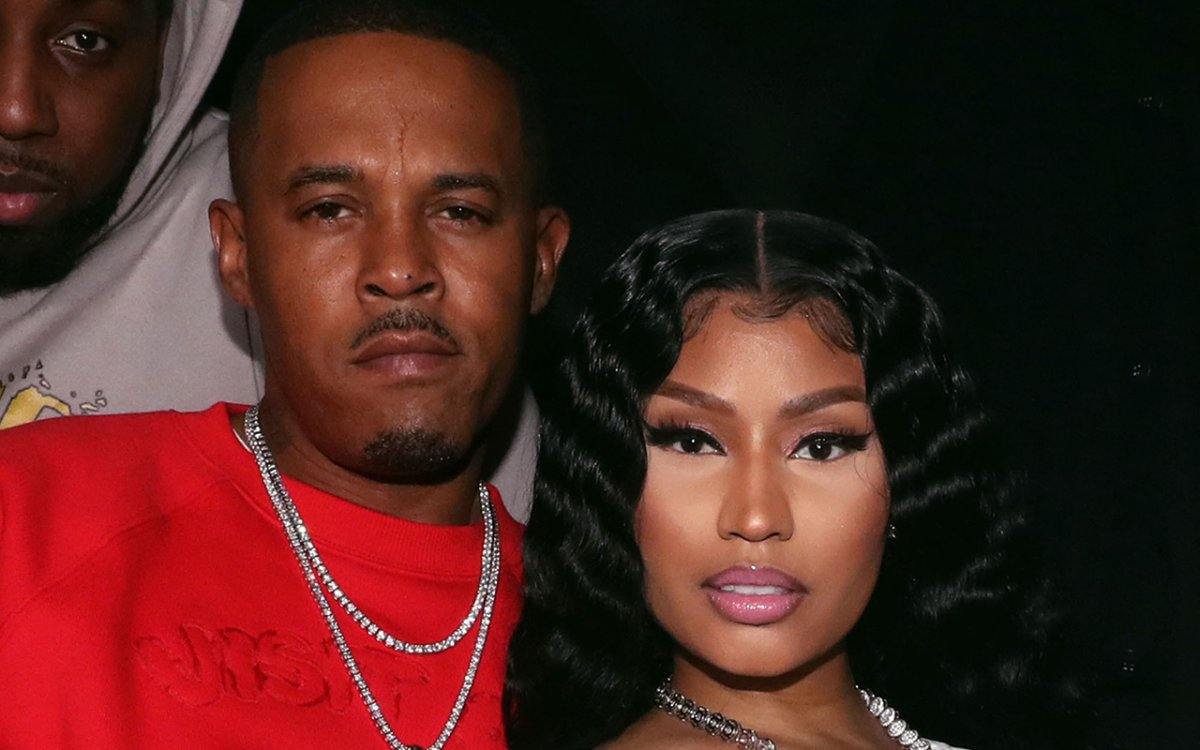Kenneth (Zoo) Petty (L) and Nicki Minaj attend Church On Sundays Hosted By Nicki Minaj And Phil The Mayor And DJ Clues Birthday Party at The Argyle on Feb. 8, 2019 in Hollywood, Calif.