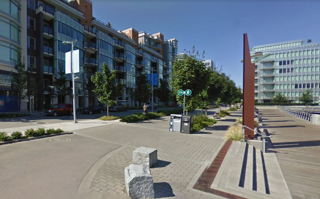 A view of Vancouver's Olympic Village neighbourhood in Southeast False Creek.