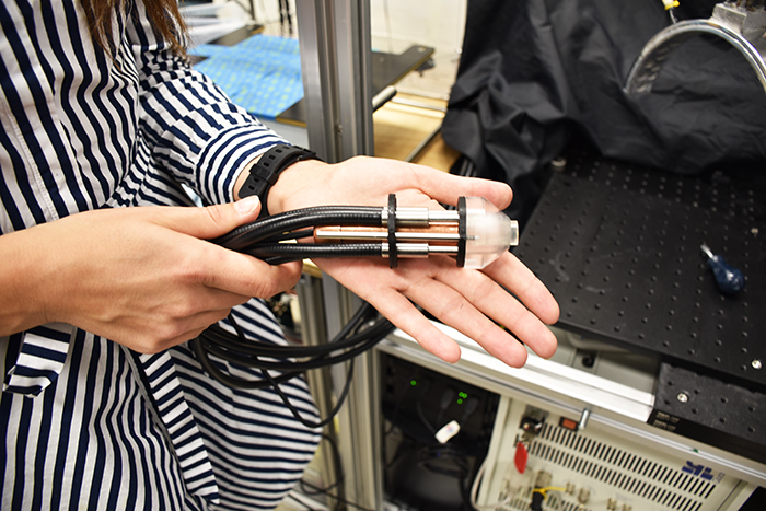 Lawson researchers have developed a hand-held photoacoustic imaging probe to be used during breast conserving surgery.