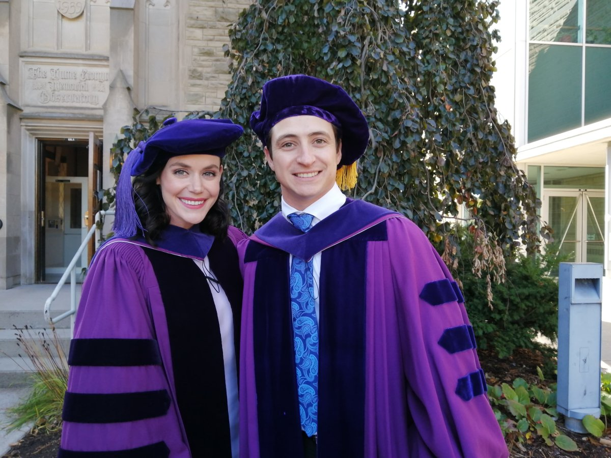 Tessa Virtue and Scott Moir received honorary Doctor of Law degrees from Western University during the institution's 314th convocation.
