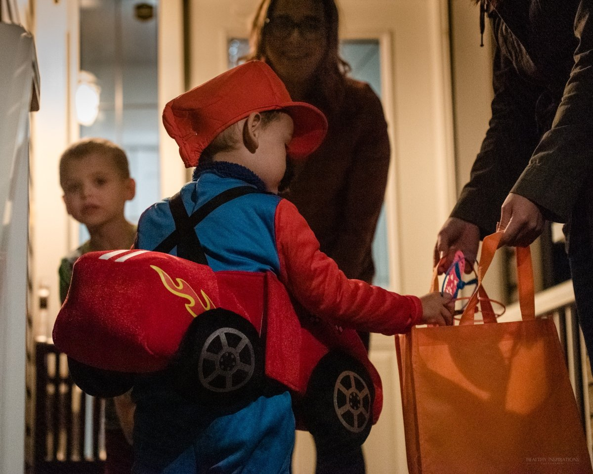 A child dressed as Mario from Nintendo takes part in a sensory Halloween event in Spruce Grove on Oct. 30, 2019.