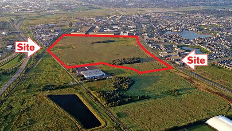 A 153-acre piece of land south of Ellerslie Road, between 91 Street SW and 101 Street SW, in south Edmonton being sold by the Alberta government.