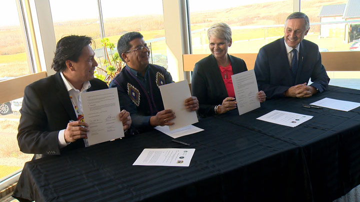 Two chiefs have signed an MOU with the Saskatchewan government to address longstanding issues with the enforcement of First Nations' laws.