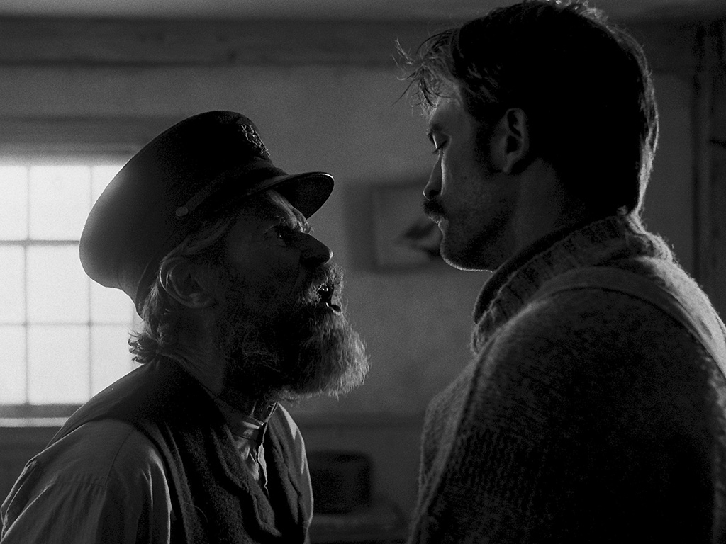 Williem Dafoe and Robert Pattinson in 'The Lighthouse.'.