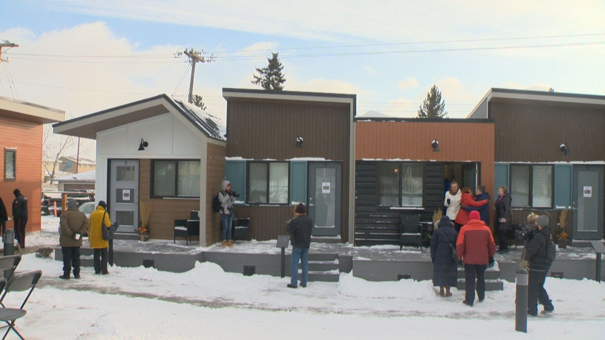 The Homes for Heroes village is set to open in Calgary on Nov. 1.