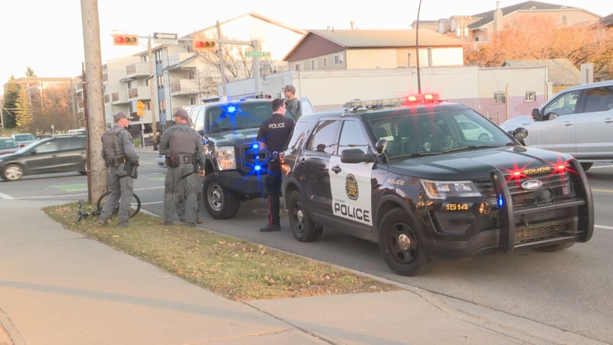 Calgary police have one man in custody after an RCMP cruiser was rammed on Thursday.
