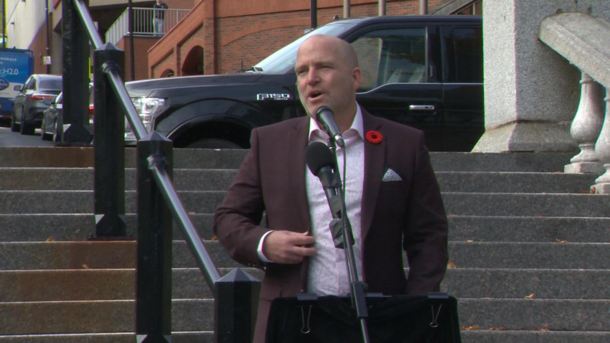 Coun. Matt Whitman announces his candidacy for Halifax mayor in the 2020 municipal election on Oct. 30, 2019.
