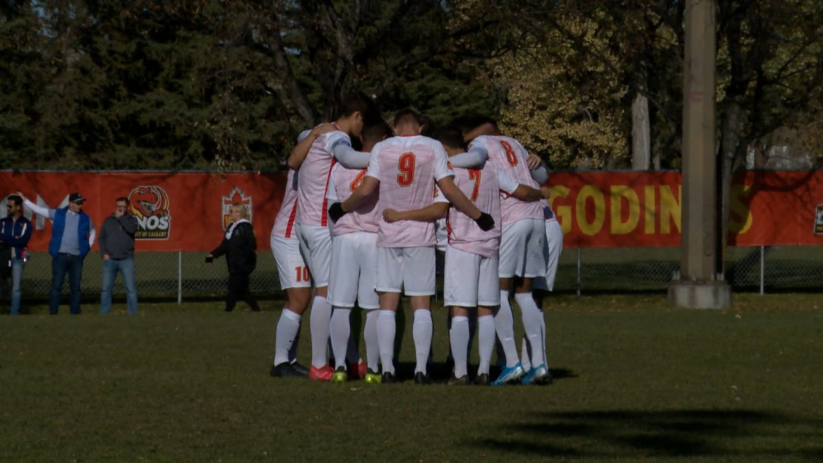 The Dinos will travel to the U SPORTS Men's Soccer Championship next week in Montreal.