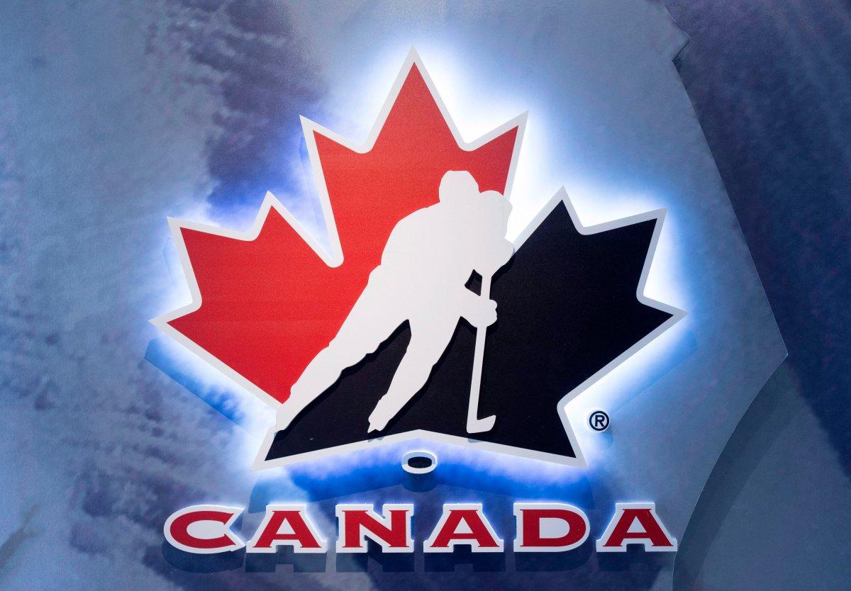 Hockey Canada logo at an event in Toronto on Wednesday Nov. 1, 2017.