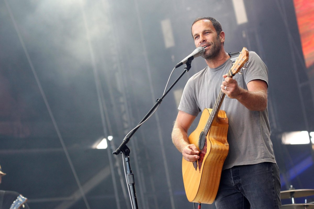 American singer-songwriter Jack Johnson performs during the Mad Cool Festival in Madrid, Spain on Jul. 14, 2018.
