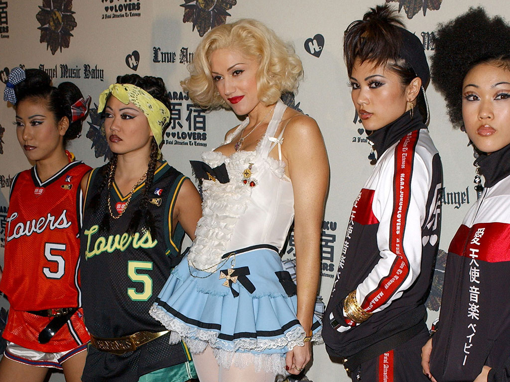 Gwen Stefani previews the Harajuku Lovers apparel line at the Hollywood Museum in Hollywood, Calif., on Oct. 21, 2005.
