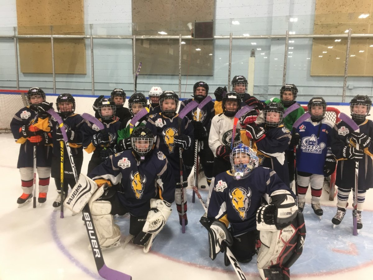 The Atom B Bisons donated their allowance and birthday money to the Hockey Fights Cancer campaign.