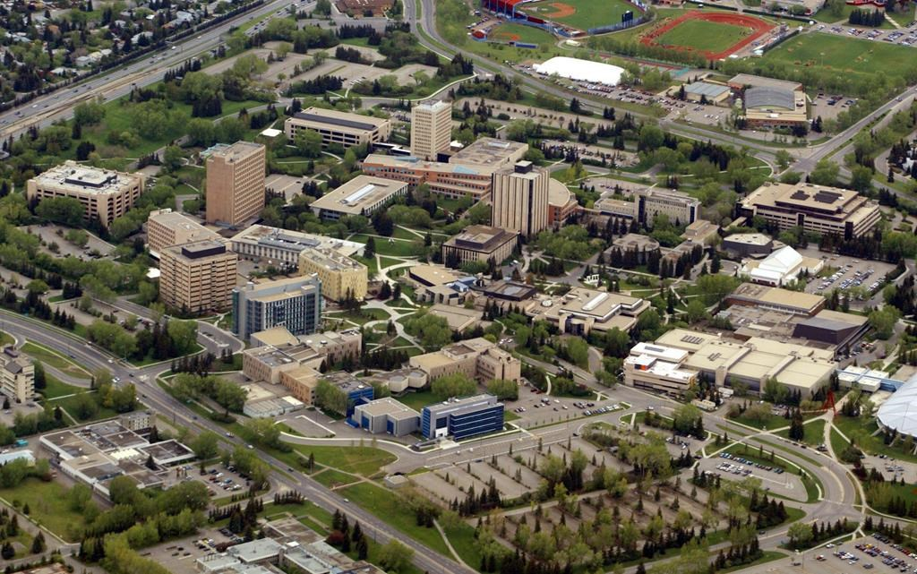 The campus of the University of Calgary, Saturday May 29, 2004. Management, faculty and support staff will be affected by the elimination of 250 jobs at the University of Calgary. THE CANADIAN PRESS/Adrian Wyld.