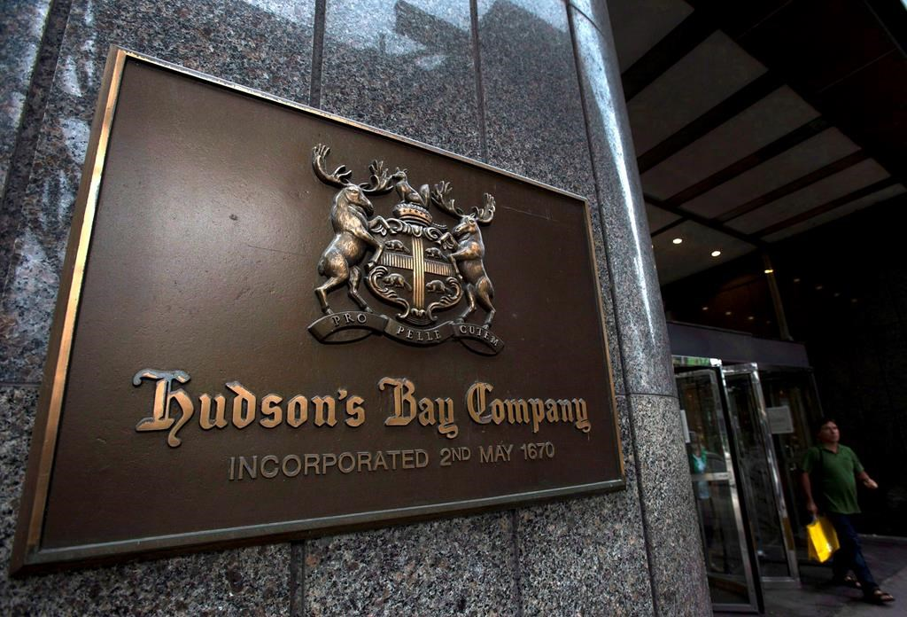 A Hudson's Bay Co. store sign is shown in Toronto on Monday, July 29, 2013.