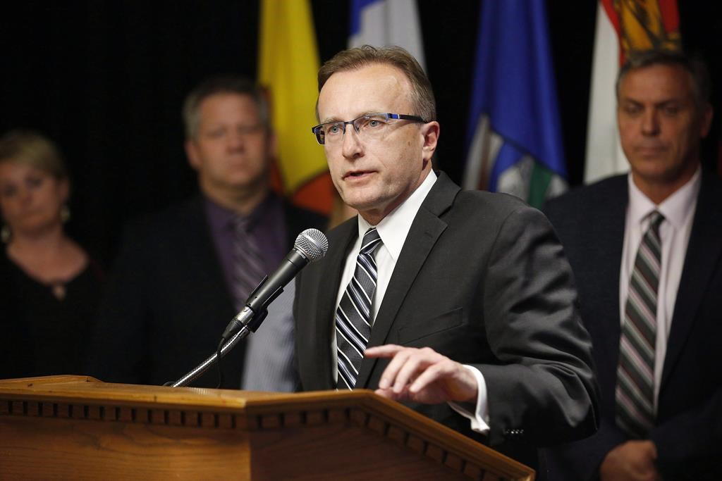 Saskatchewan Health Minister Jim Reiter, pictured in Winnipeg in 2018, says he takes partial responsibility for poor communication around COVID-19 outbreaks in the northern part of the province.