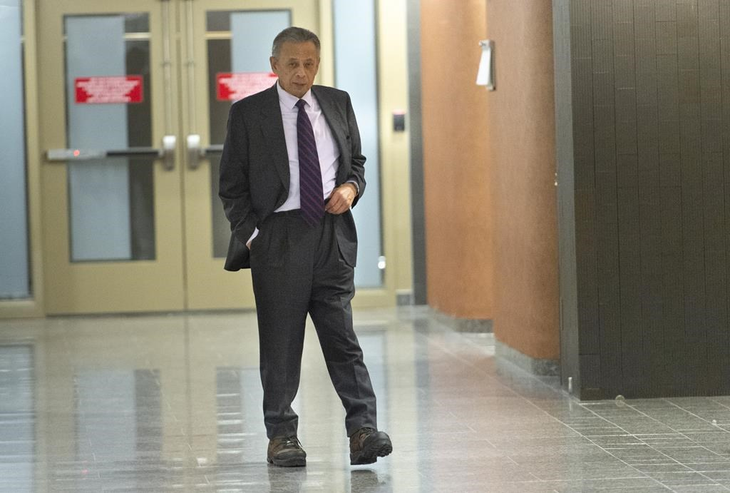 Former SNC-Lavalin vice-president Sami Bebawi leaves a courtroom in Montreal on Friday, February 15, 2019.