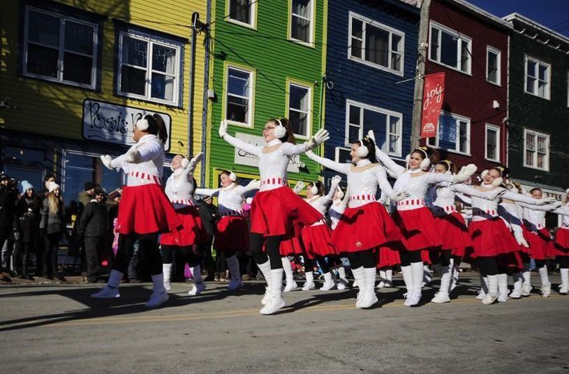 Performers are seen in this handout photo from the 2018 Christmas parade in St. John's, N.L. The annual Christmas parade in St. John's, N.L., this Sunday will offer a section with reduced noise and lights to make the event more accessible to spectators with autism spectrum disorder and other sensitivities. THE CANADIAN PRESS/HO, Downtown St. John's Business Commission *MANDATORY CREDIT*.