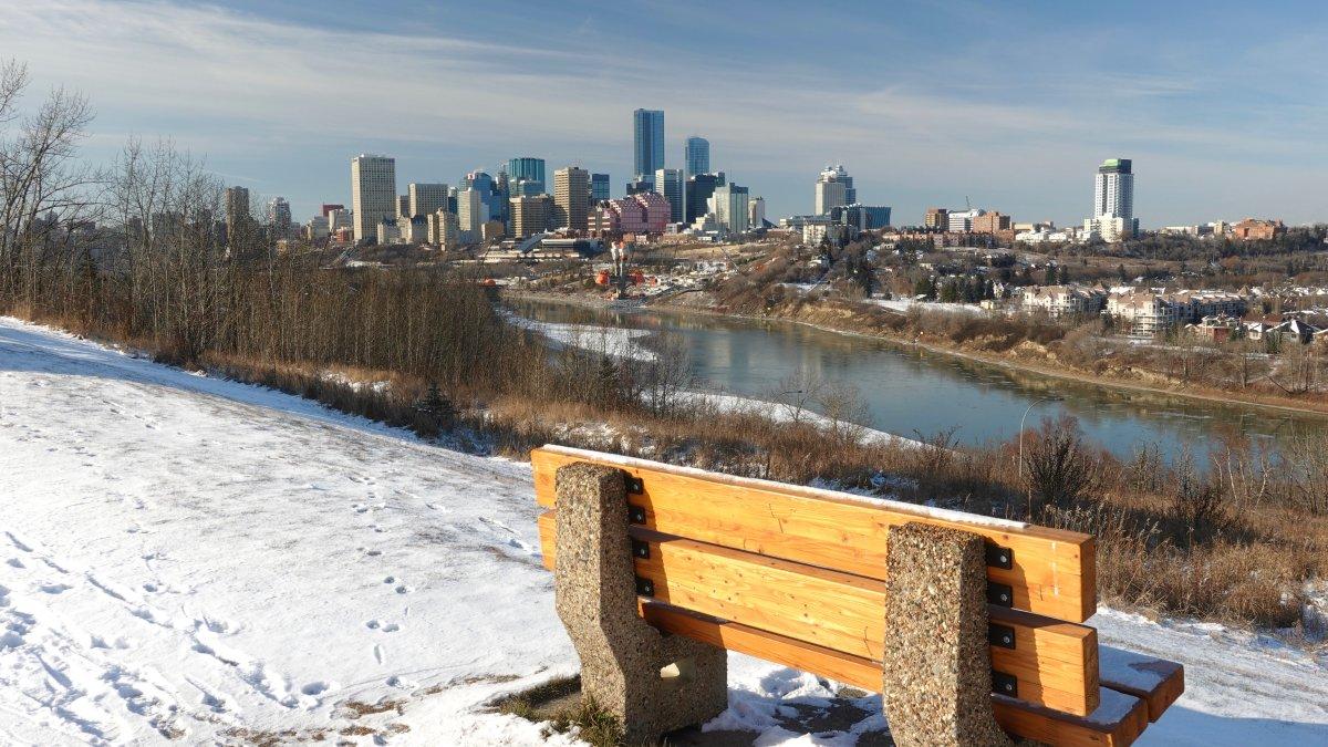 Looking across the North Saskatchewan River at downtown Edmonton, Alta. November 20, 2019.