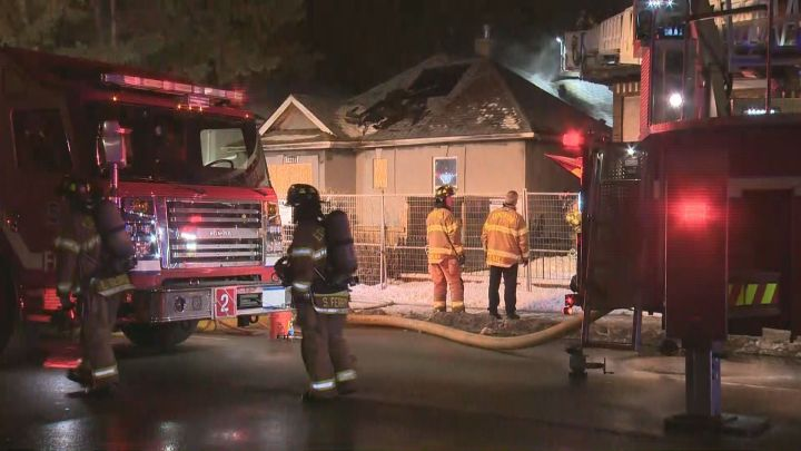 Edmonton firefighters were called to a fire at a vacant home in the area of 112 Avenue and 86 Street on Thursday night.