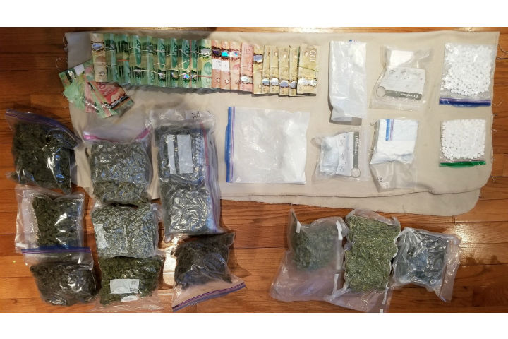 According to Nottawasaga OPP Const. Chad Wilson, cocaine, cannabis and opioids were seized.