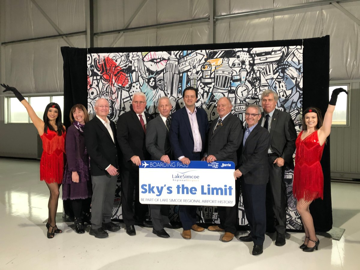 The new air charter service will begin in September 2020, while Simcoe County will acquire an increased ownership stake in the airport in January.