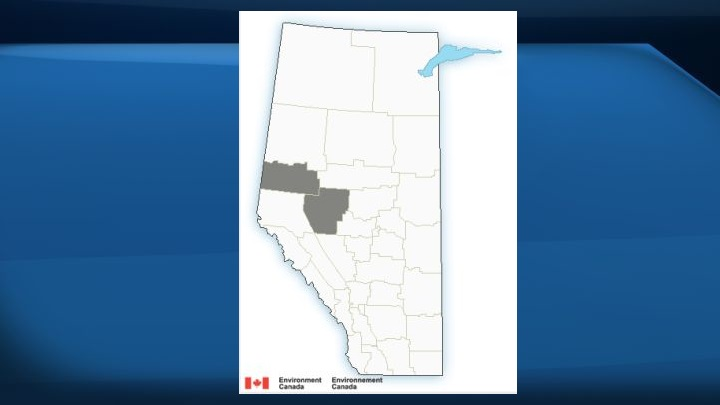 """A fog advisory was issued for some areas in central and northern Alberta on Tuesday as Environment Canada warned of the potential for """"near-zero visibility"""" at times."""