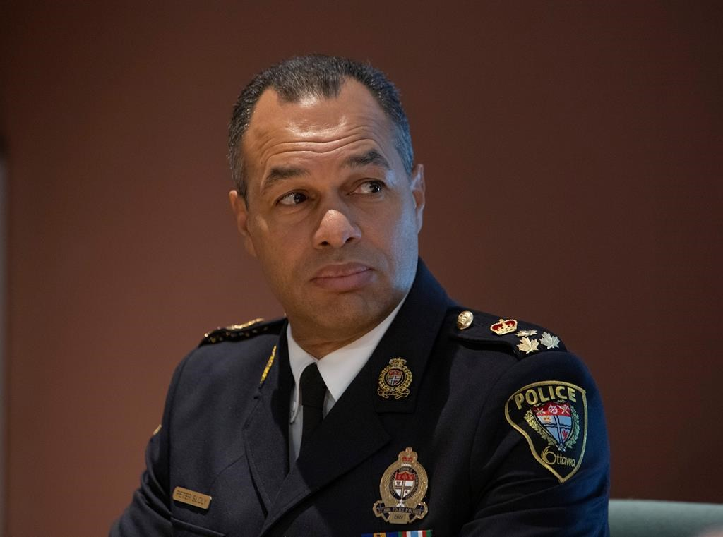Ottawa Police Chief Peter Sloly defended the service's decision to remove a demonstration blocking traffic in downtown Ottawa late last week.