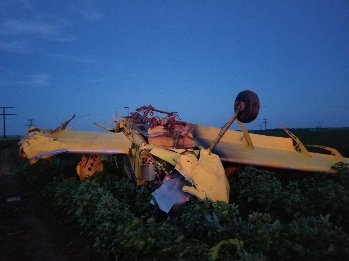 A plane that crashed in Texas after a Sept. 7, 2019 gender reveal.