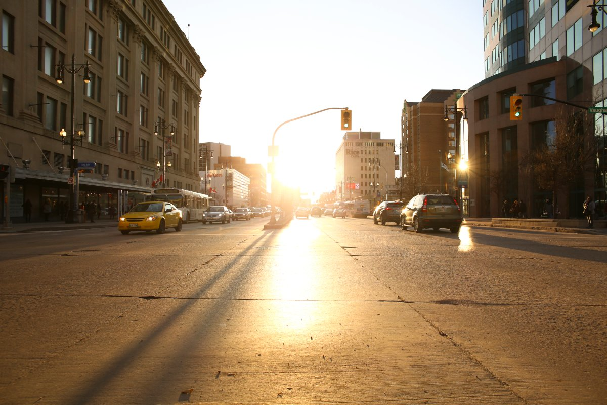 Downtown Winnipeg.