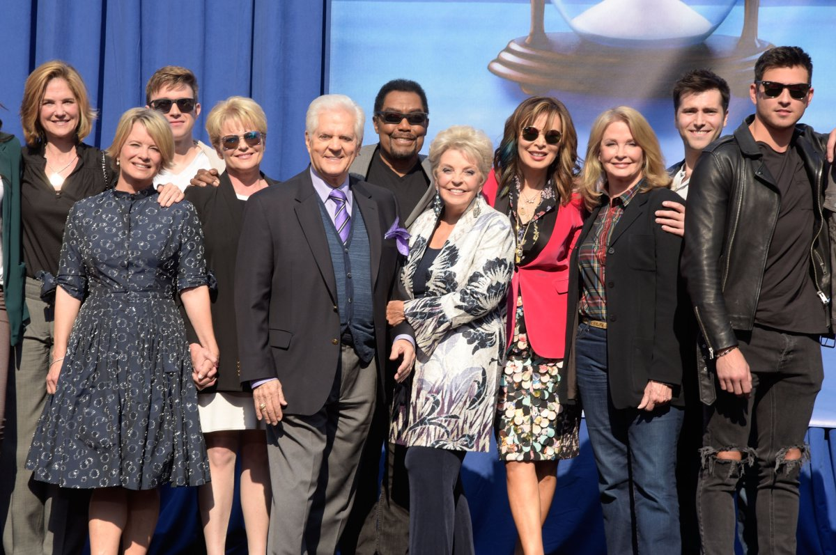 Group shot of several members of the 'Days Of Our Lives' cast at NBC's 'Days Of Our Lives' Day Of Days fan event at Universal CityWalk on Nov. 10, 2018 in Universal City, Calif.