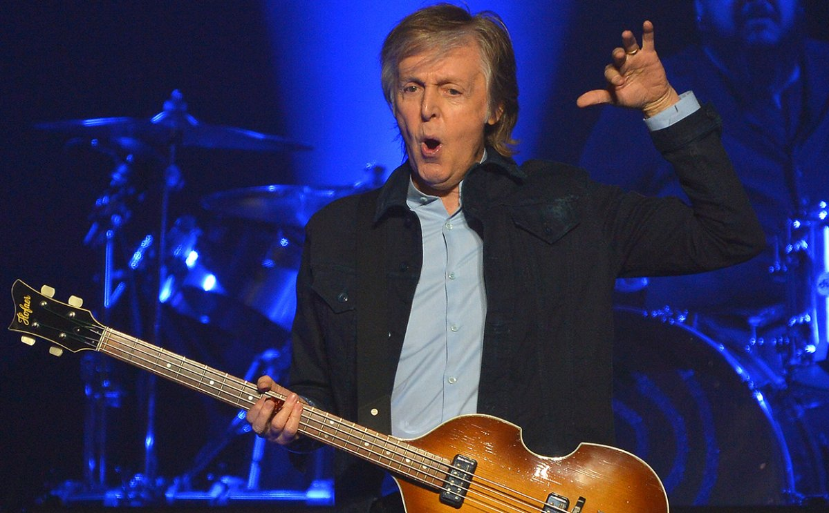 Sir Paul McCartney performs live on stage at the O2 Arena during his Freshen Up tour, on Dec. 16, 2018 in London, England.