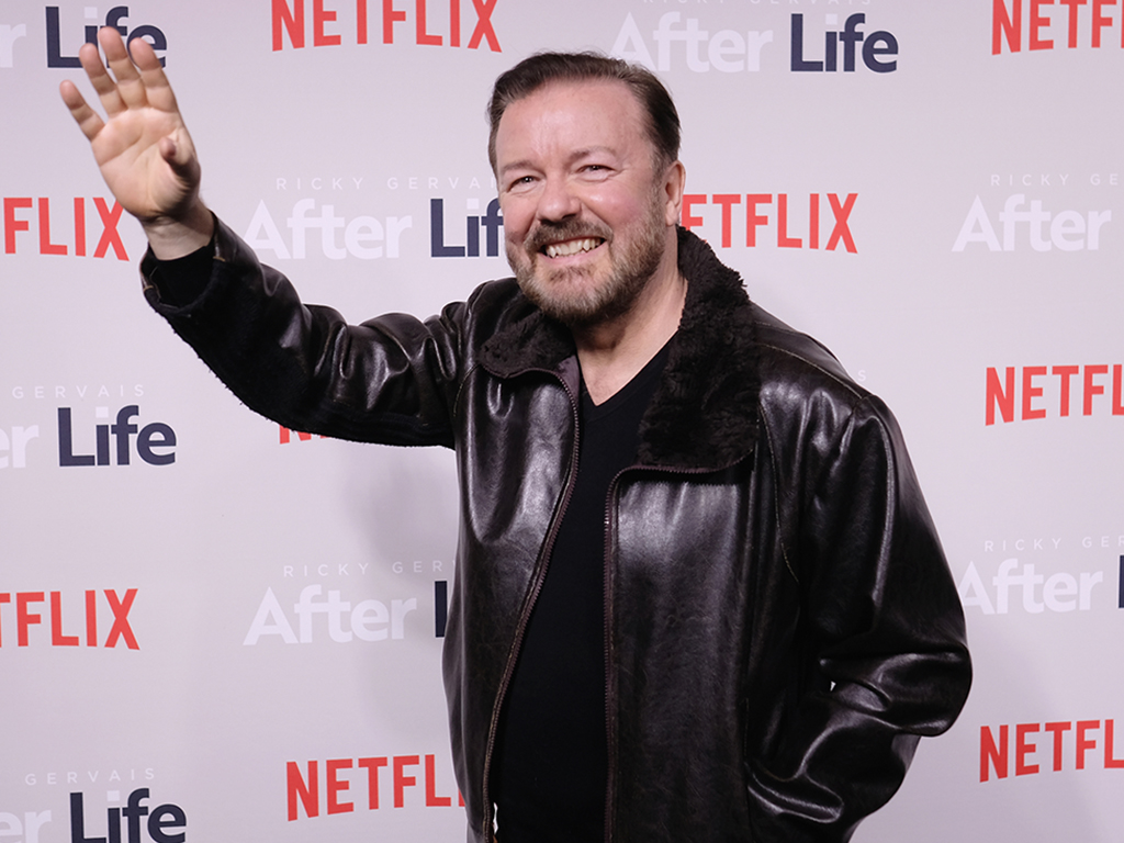 Ricky Gervais attends the 'Afterlife: For Your Consideration' event at the Paley Center For Media on March 7, 2019 in New York City.