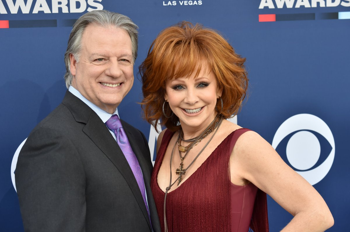 """(L-R) Anthony """"Skeeter"""" Lasuzzo and Reba McEntire attend the 54th Academy Of Country Music Awards at MGM Grand Hotel & Casino on April 7, 2019 in Las Vegas, Nev."""